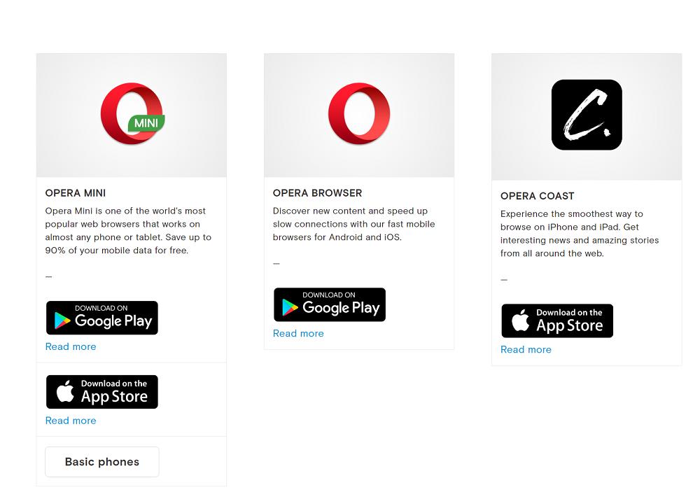 Opera Mini для Windows Phone