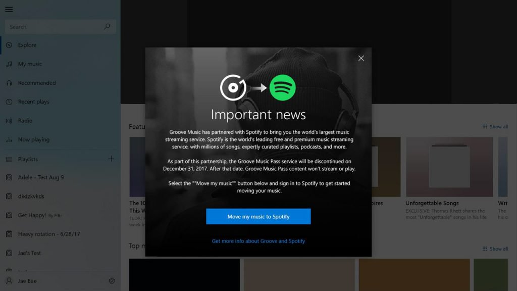Microsoft закрывает стриминговый сервис Groove Music
