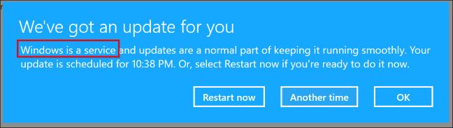 Перевод: Windows – это не сервис, это операционная система