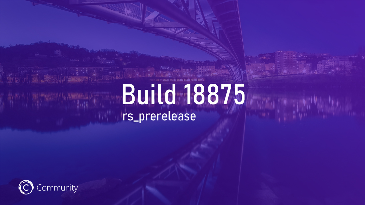 Анонс Windows 10 Insider Preview Build 18875 (Fast и Skip Ahead)