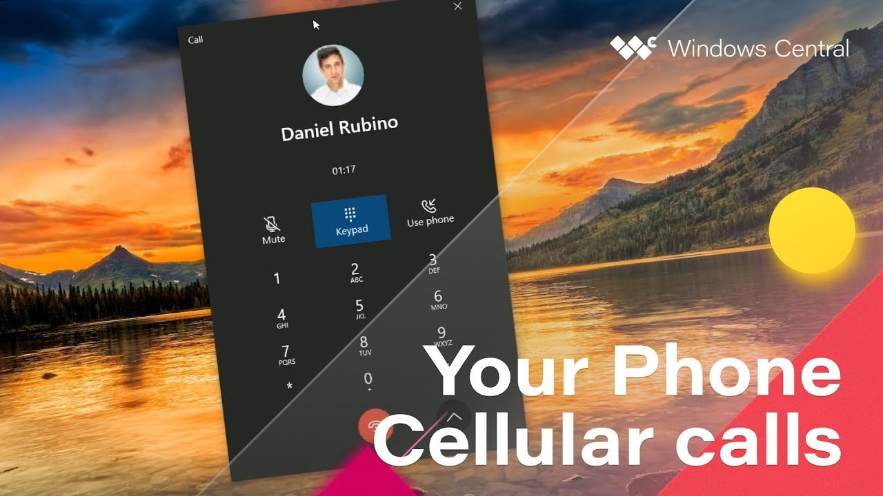 Первый взгляд на функцию телефонных звонков в приложении «Ваш телефон» для Windows 10