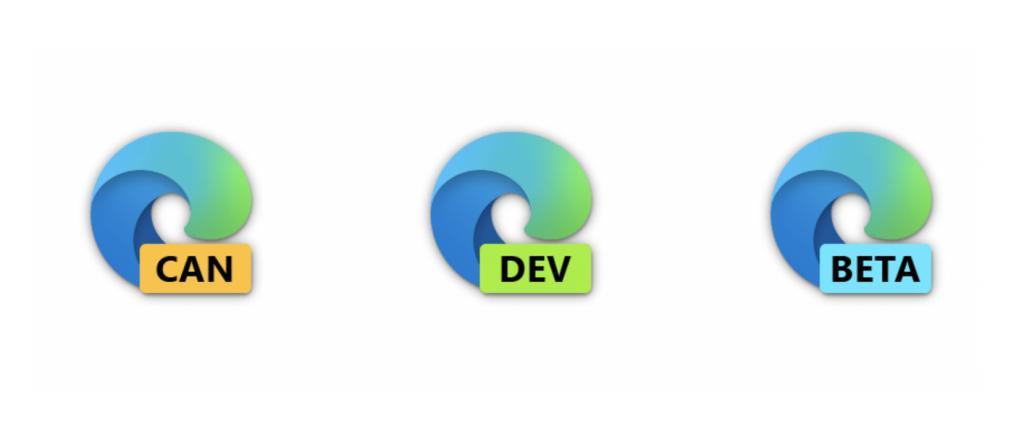 Новые иконки Microsoft Edge доступны на каналах Canary, Dev и Beta