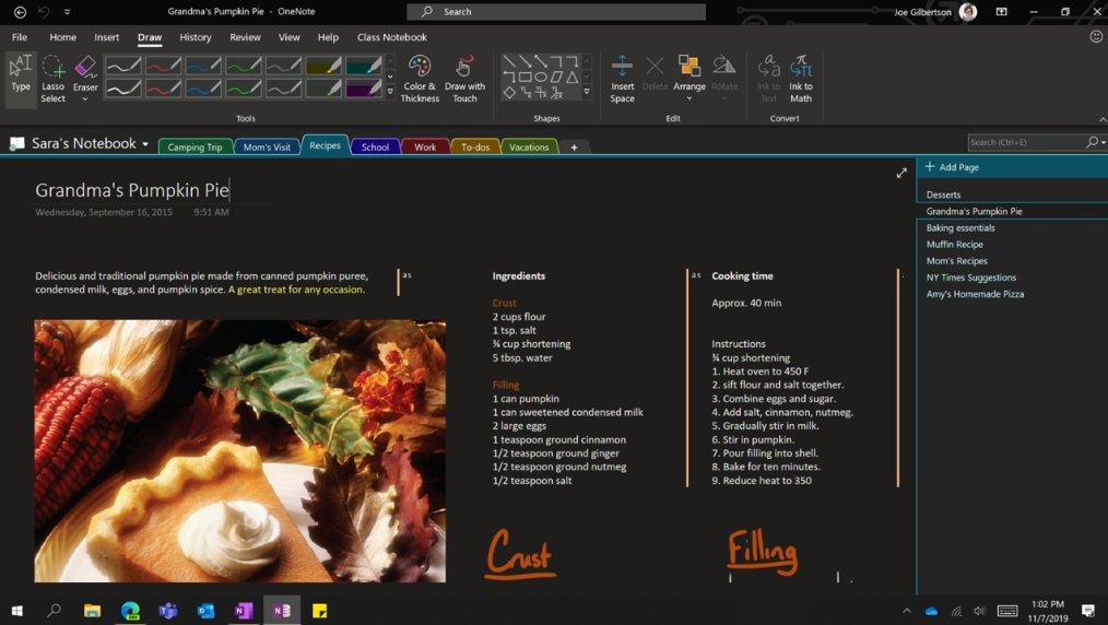 Microsoft рассказала о будущем OneNote