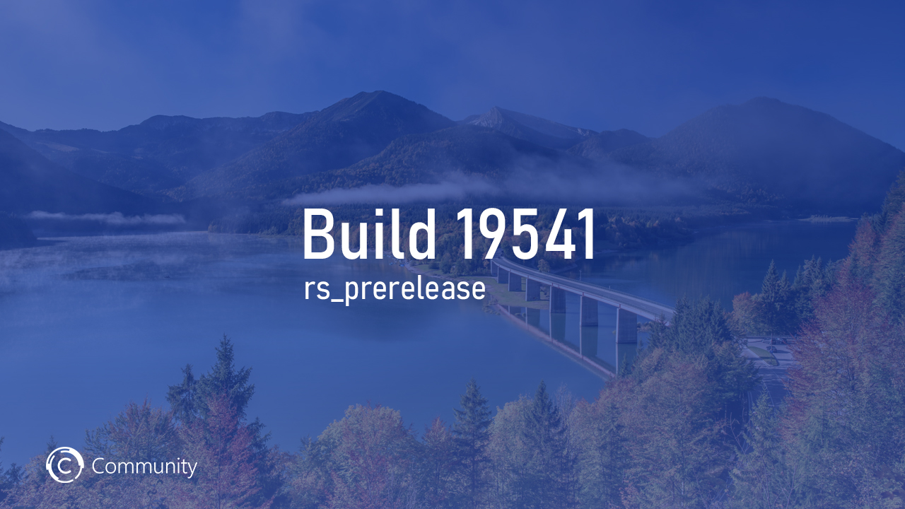 Анонс Windows 10 Insider Preview Build 19541 (Ранний доступ)