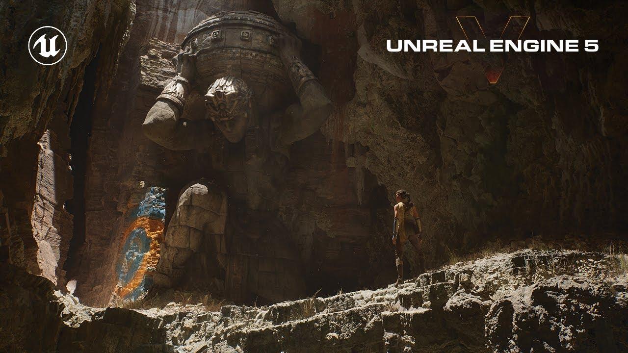 Техническая демонстрация игрового движка Unreal Engine 5 на PlayStation 5
