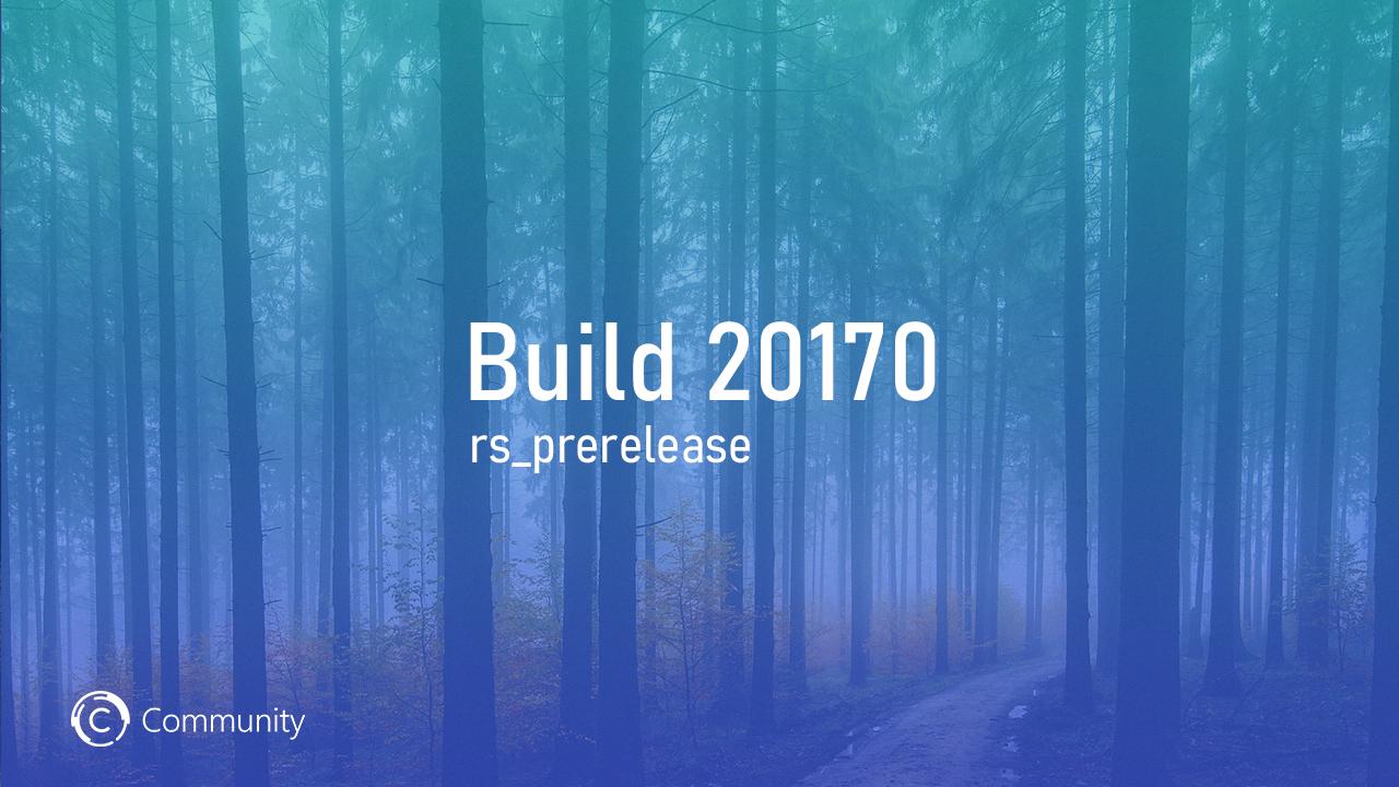 Анонс Windows 10 Insider Preview Build 20170 (канал Dev)