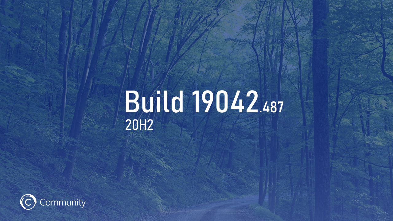 Анонс Windows 10 Insider Preview Build 19042.487 (канал Beta)
