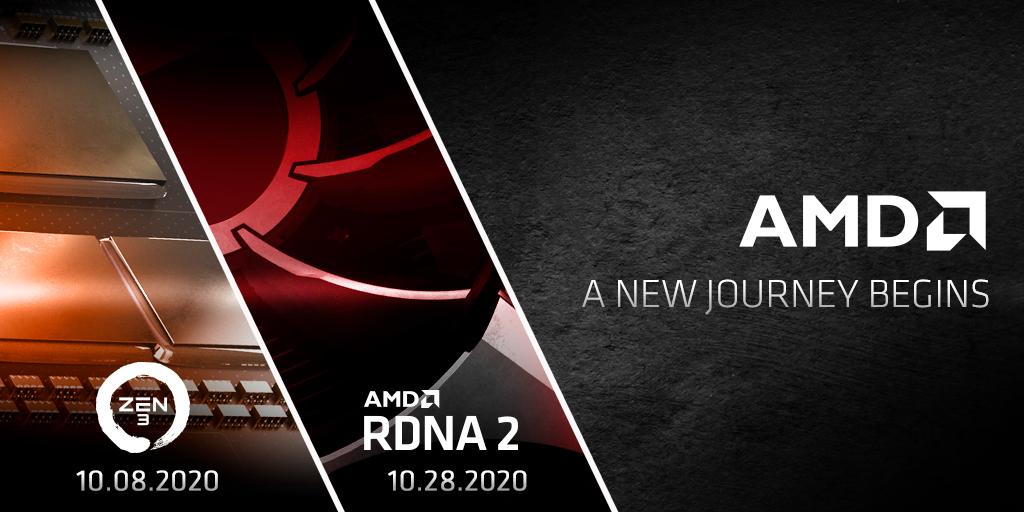В октябре AMD представит продукты на базе Zen 3 и RDNA 2