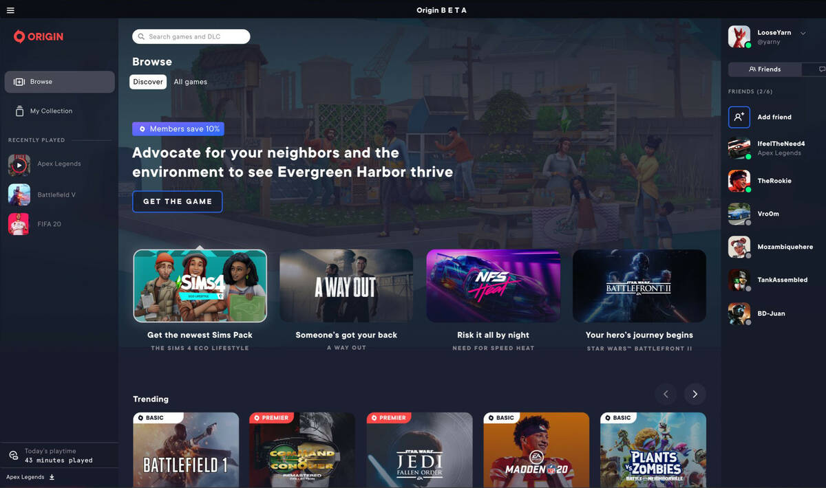 EA заменит Origin новым приложением EA Desktop