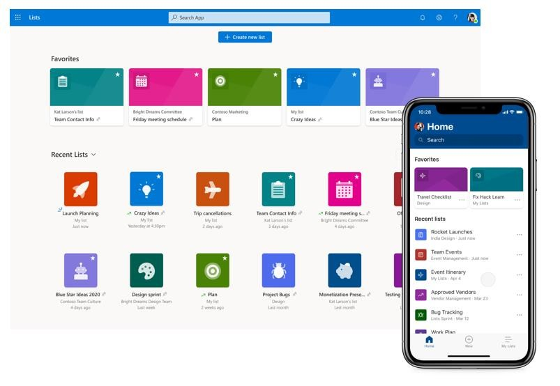 Выпущено приложение Microsoft Lists для iOS