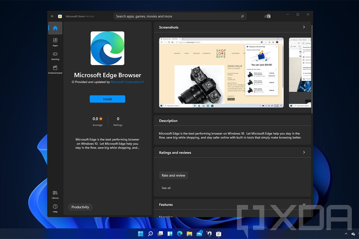 Браузер Microsoft Edge стал доступен в Microsoft Store на Windows 11