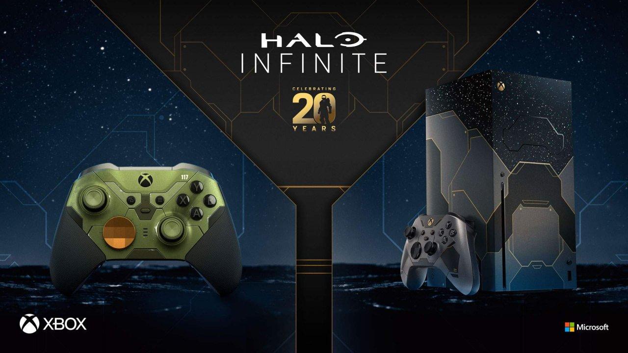 Представлены Xbox Series X и Xbox Elite Controller в стилистике Halo Infinite