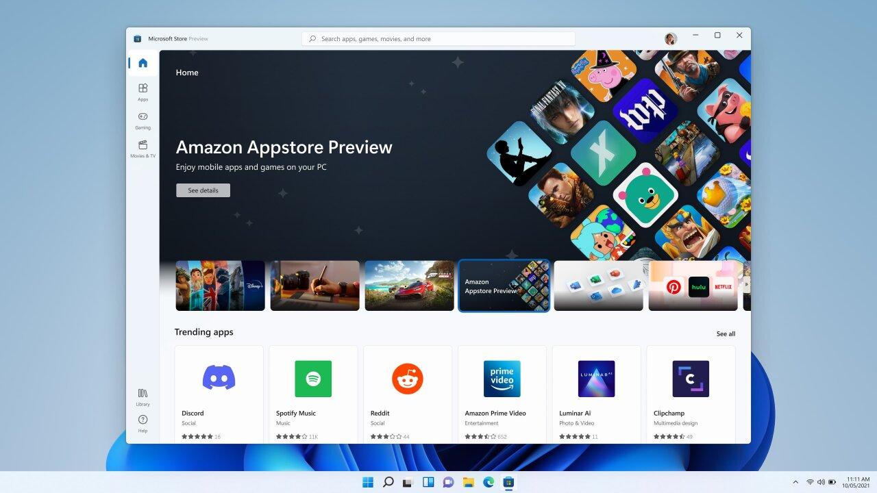 Microsoft начала тестирование Android-приложений в Windows 11