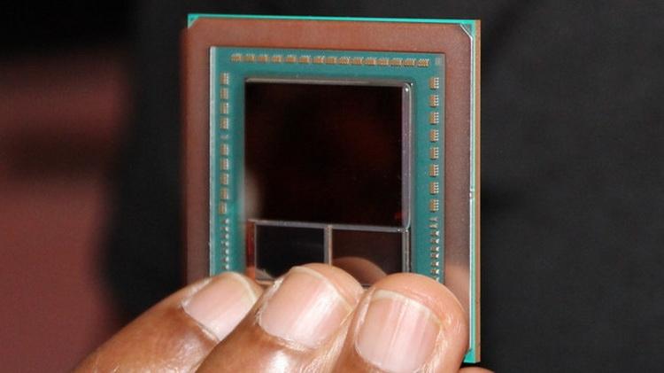 Фотография графического чипа Vega 10