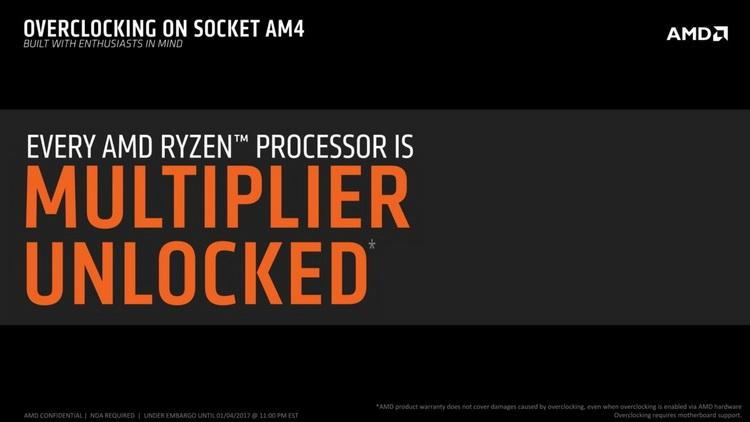 Все процессоры AMD Ryzen получат разблокированный множитель