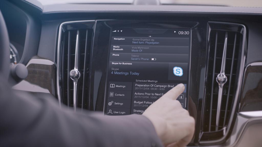 CES 2017: Volvo интегрирует Skype и Cortana в свои флагманские автомобили